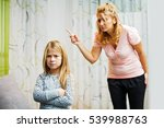 mother and daughter having... | Shutterstock . vector #539988763