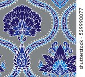 seamless pattern with fantasy... | Shutterstock .eps vector #539990077
