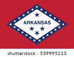 arkansas state flag  usa.... | Shutterstock .eps vector #539995213