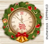 new year is coming. vintage... | Shutterstock .eps vector #539996413
