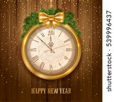 new year is coming. vintage... | Shutterstock .eps vector #539996437
