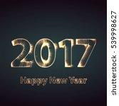 happy new year 2017 creative... | Shutterstock . vector #539998627