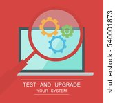 testing system icon. functional ... | Shutterstock .eps vector #540001873