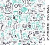 hanukkah seamless pattern with... | Shutterstock . vector #540010237