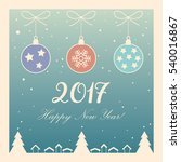 2017 vector merry christmas and ... | Shutterstock .eps vector #540016867