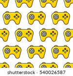 yellow game pad pattern. on...   Shutterstock .eps vector #540026587