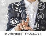 industrial internet of things ... | Shutterstock . vector #540031717