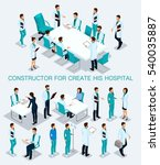 business people isometric set... | Shutterstock .eps vector #540035887