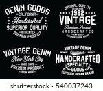 vintage denim  premium product  ... | Shutterstock .eps vector #540037243