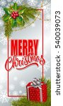 merry christmas lettering and... | Shutterstock .eps vector #540039073