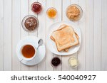 a white cup of black tea with... | Shutterstock . vector #540040927