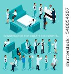 business people isometric set... | Shutterstock .eps vector #540054307