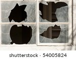 broken windows in an abandoned... | Shutterstock . vector #54005824