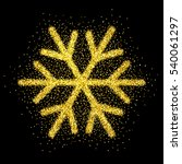 shine gold snowflake with... | Shutterstock .eps vector #540061297
