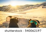 snowboarder sitting on relax... | Shutterstock . vector #540062197