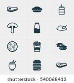 vector illustration of 12... | Shutterstock .eps vector #540068413