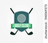 golf club logo design template... | Shutterstock .eps vector #540069373