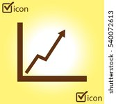business graph. flat icon of...