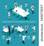 business people isometric set... | Shutterstock .eps vector #540073057
