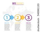 business infographics.... | Shutterstock .eps vector #540081133