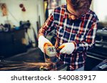 young manual worker working... | Shutterstock . vector #540083917