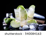 alcoholic cocktail with... | Shutterstock . vector #540084163