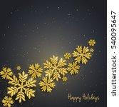 vector christmas new year... | Shutterstock .eps vector #540095647