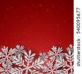 vector christmas new year... | Shutterstock .eps vector #540095677