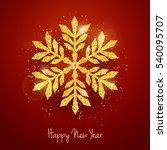 vector christmas new year... | Shutterstock .eps vector #540095707