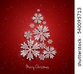 vector christmas new year... | Shutterstock .eps vector #540095713