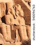 abu simbel  magnificent statues ... | Shutterstock . vector #540096763