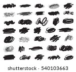 big set of hand drawn ink brush ... | Shutterstock .eps vector #540103663