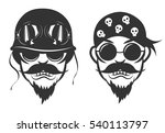 set bikers. vector illustration | Shutterstock .eps vector #540113797