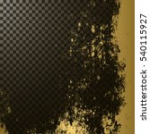 golden texture on transparent...   Shutterstock .eps vector #540115927
