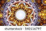 christmas mandala. icy lace on... | Shutterstock . vector #540116797