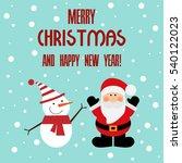 vector illustration of a santa... | Shutterstock .eps vector #540122023