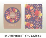 cover design with floral... | Shutterstock .eps vector #540122563