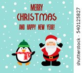 vector illustration of a santa... | Shutterstock .eps vector #540125827