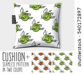design vector pillow  cushion ... | Shutterstock .eps vector #540172897