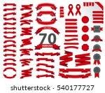 seventy vintage ribbon vector... | Shutterstock .eps vector #540177727