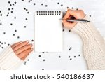 festivedecorations and notebook ... | Shutterstock . vector #540186637