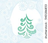 beautiful christmas tree.... | Shutterstock .eps vector #540186853