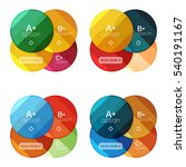 vector set of round infographic ... | Shutterstock .eps vector #540191167