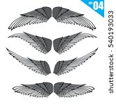 collection of wings design...   Shutterstock .eps vector #540193033