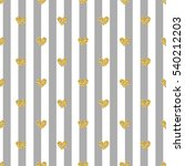 seamless gold heart glitter... | Shutterstock .eps vector #540212203