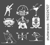 winter sport label logo design. ... | Shutterstock .eps vector #540224707