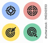 target vector icons set.... | Shutterstock .eps vector #540243553