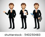 elegant people businessman | Shutterstock .eps vector #540250483