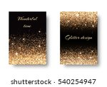 set of backgrounds with shining ... | Shutterstock .eps vector #540254947