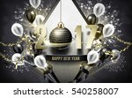 2017 happy new year with silver ... | Shutterstock .eps vector #540258007